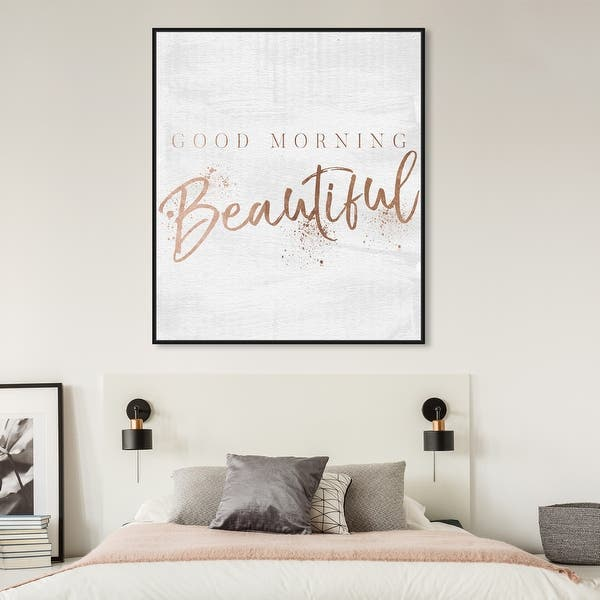 GOOD MORNING Wall PrintQuirky Bedroom Wall Art Home Decor Ideas Quote