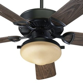 Quorum International 1435259395 Two Light Five Blade Outdoor Fan from the Estate Patio Collection