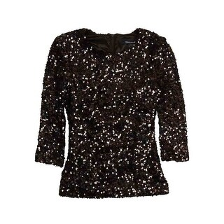 French Connection Women's 'Cosmic Sparkle' Sequined Top - Black - 0