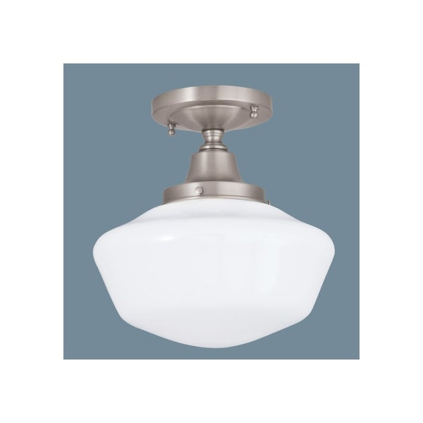 Norwell Lighting 5361 1-Light Semi-Flush Ceiling Fixture from the Schoolhouse Collection