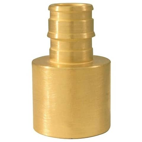 "Apollo EPXFS1234 Female Pipe Reducing Adapter, Brass, 3/4"" x 1/2"""