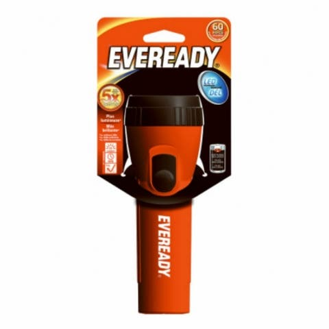 Eveready EVEL15HS Economy LED Flashlight with Ribbed Casing