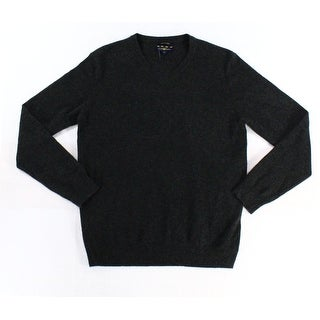 Club Room NEW Charcoal Gray Mens Size XL Knit V-Neck Cashmere Sweater