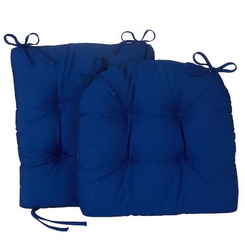 Porch Outdoor/Indoor Marine Blue Rocking Chair Cushion Set