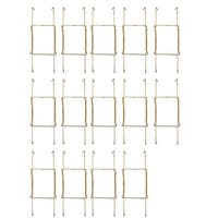 Metal 7.5 to 9 Inch Spring Plate Hangers Wall Rack Hook Display Gold Tone 14pcs - Gold Tone - Gold Tone