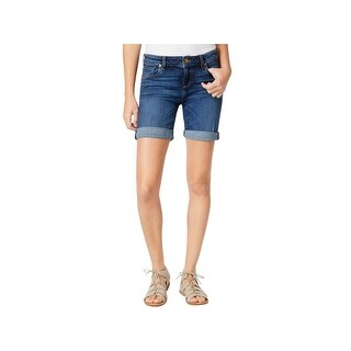 Kut From The Kloth Womens CATHERINE Denim Shorts Flat Front Cuffed