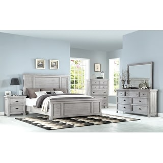 Link to The Gray Barn Edison Modern Farmhouse Wood Panel Bed Similar Items in Bedroom Furniture
