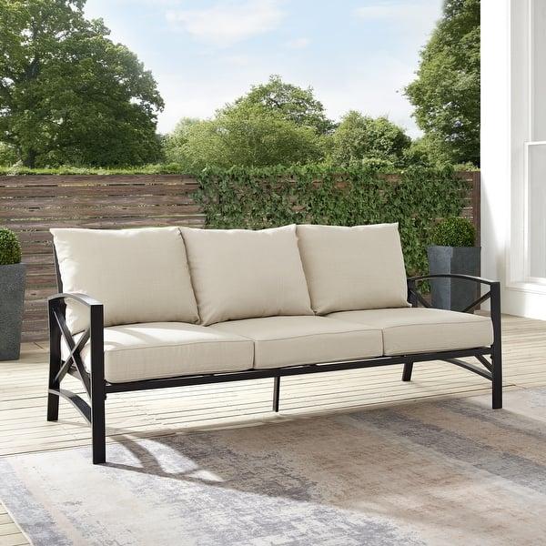 Shop Black Friday Deals On Kaplan Outdoor Metal Sofa Overstock 31431751
