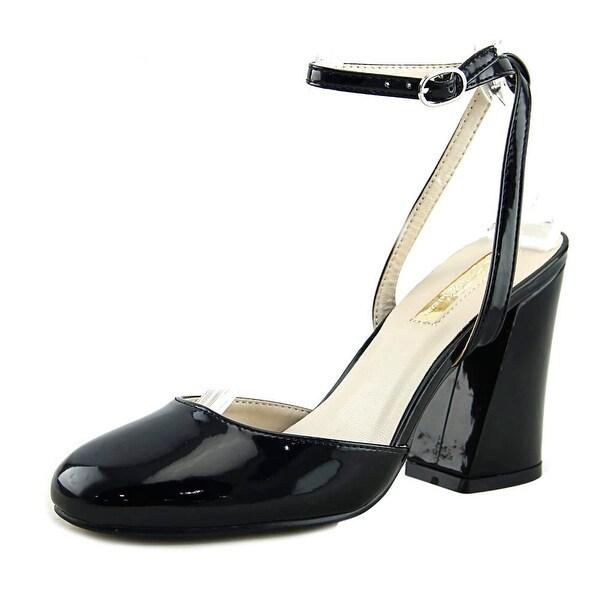 Olivia Miller OMP-1740 Women Open Toe Leather Black Sandals