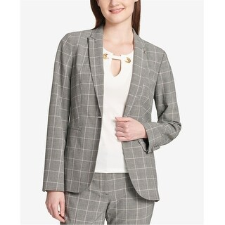 Link to Tommy Hilfiger Womens Plaid One Button Blazer Jacket, Black, 10 Similar Items in Suits & Suit Separates
