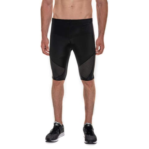 CW-X Mens Activewear Bottoms Black Size Small S Cycle Compression Shorts