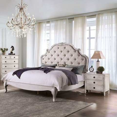 Furniture of America Boll Traditional White 2-piece Bedroom Set