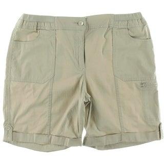 Karen Scott Womens Comfort Waist Cuffed Casual Shorts - 14