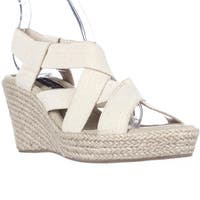 STEVEN by Steve Madden Janenn Espadrille Wedge Sandals, Gold/Multi