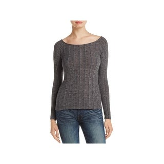 Project Social T Womens Retrograde Pullover Sweater Boatneck Ribbed