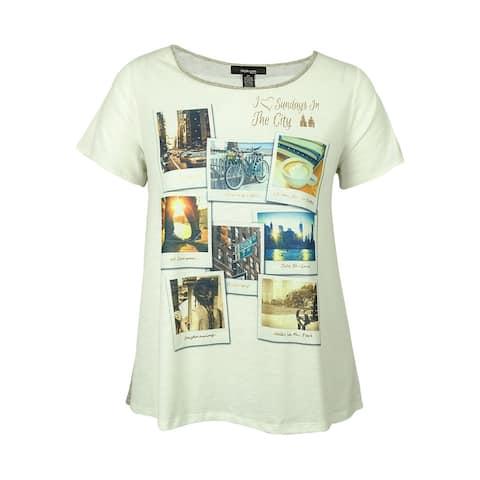 Style & Co Women's City-Print Embellished Shirt