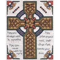 """Celtic Cross Counted Cross Stitch Kit-8""""X10"""" 14 Count"""