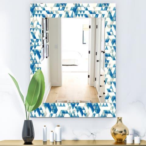Designart 'Triangular Colourfields 4' Modern Mirror - Wall Mirror