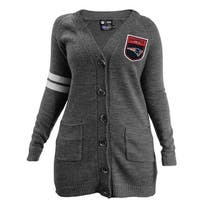 NFL New England Patriots Team Varsity Cardigan - Gray,