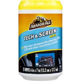Armored 17217 Tech And Screen Wipes, 15 Count
