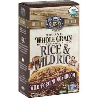 Lundberg Family Farms - Whole Grain Wild Rice Porcini ( 6 - 6 oz bags)