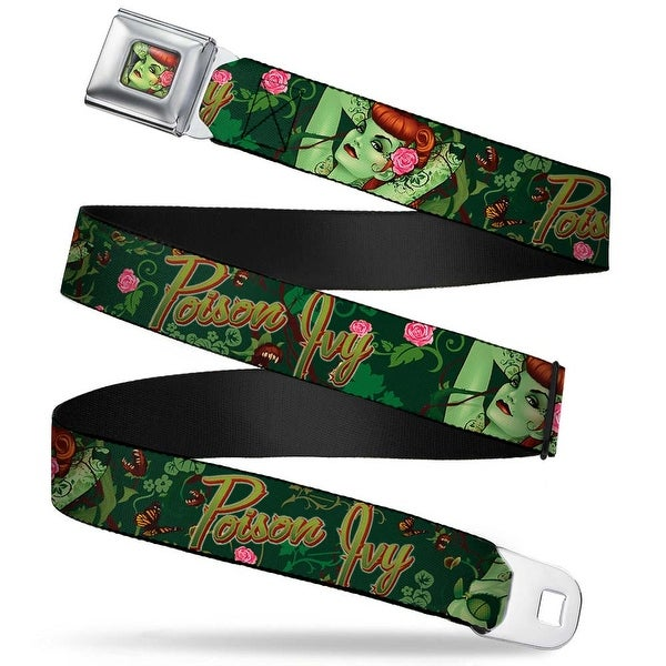 Poison Ivy Pin Up Face Full Color Poison Ivy Bombshell Poses Greens Reds Seatbelt Belt