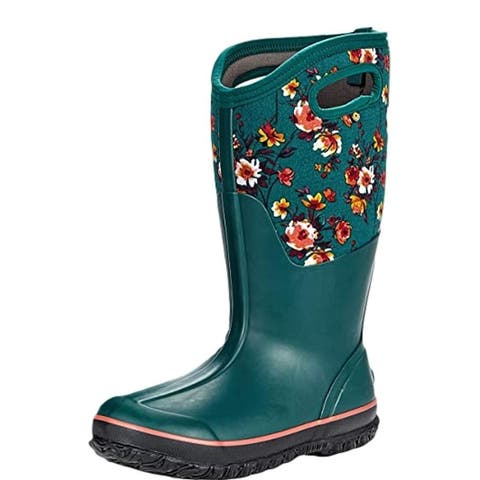 Bogs Outdoor Boots Womens Classic Tall Painterly Wide Calf WP