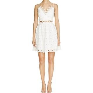 Lucy Paris Womens Party Dress Lace Cut-Out