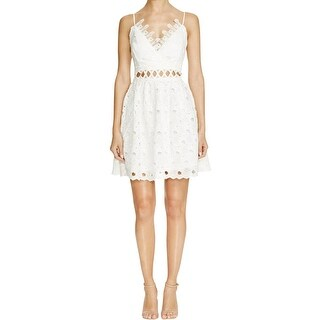 Lucy Paris Womens Party Dress Lace Cut-Out