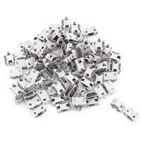 Unique Bargains 100 Pcs Replacement B-Type 5-Pin 2-Terminal SMT SMD Micro USB Connectors Jacks