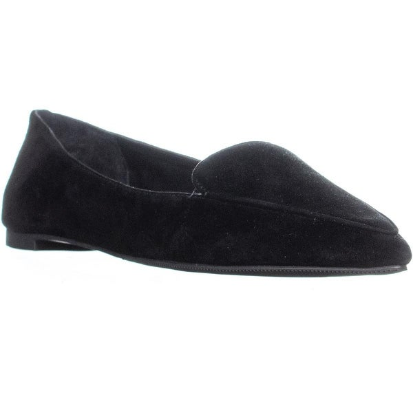 f99ffea5cfd Shop I35 Aleynial Pointed Toe Slip On Flats, Black Suede - 7.5 US ...