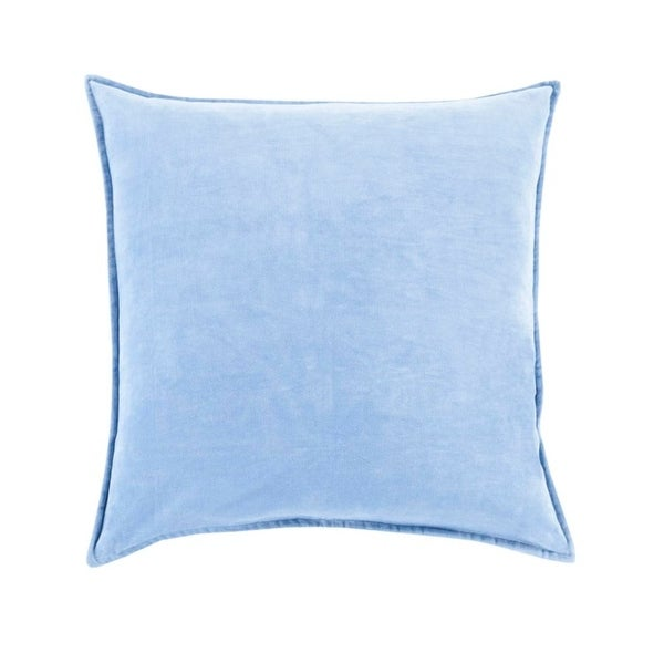 "20""Shaded Sky Blue Contemporary Woven Decorative Throw Pillow –Down Filler"