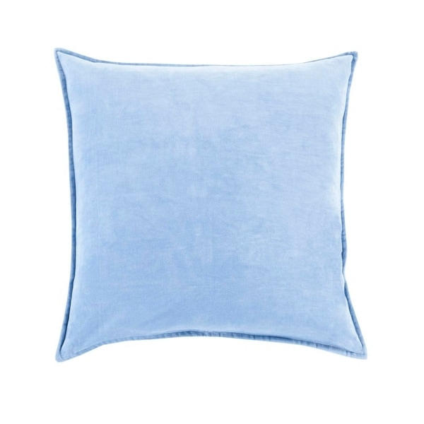 "22""Shaded Sky Blue Contemporary Woven Decorative Throw Pillow –Down Filler"
