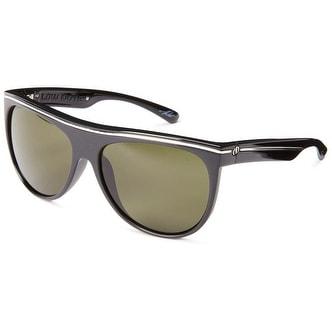 Electric Mens Sunglass Low Note Gloss Black Square Plastic Polarized Lens ES11701642 - Medium