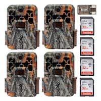 Browning Spec Ops Extreme Trail Game Camera (4) with 32GB Card (4) and Reader - Camouflage
