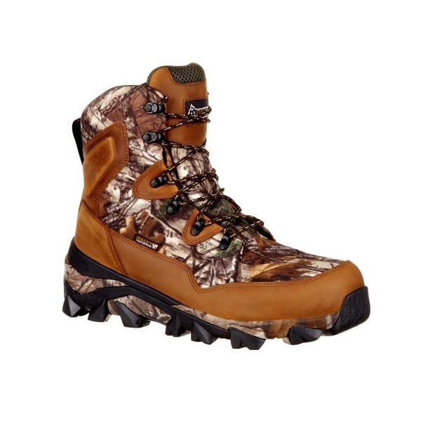 Rocky Outdoor Boots Mens Claw Leather Denier Cordura Brown