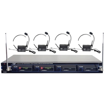 Pyle 4CH Wireless Belt pack Mic