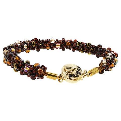 BeadSmith Kumihimo Bracelet Jewelry Kit, Do It Yourself, Dark Neutrals
