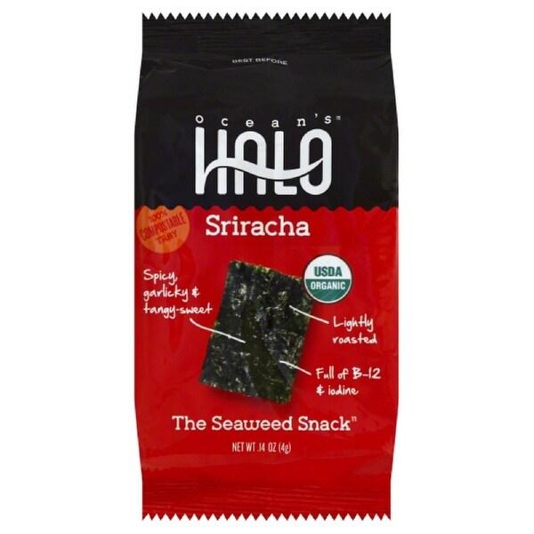 Ocean's Halo Sriracha - Garlic Hot Sriracha Peppers - Case of 5 - 0.14 oz.