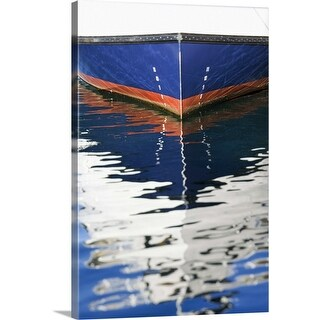 """Reflection of boat in water"" Canvas Wall Art"