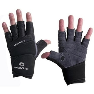 Bionic Men's Wrist Wrap Fitness Gloves - gray