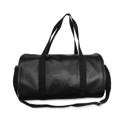 Buffalo David Bitton Unisex Limited Edition Duffle Bag, Black, Small (17 in. - 22 in.) - Small (17 in. - 22 in.)