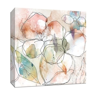 "PTM Images 9-147914  PTM Canvas Collection 12"" x 12"" - ""Floral Flow I"" Giclee Flowers Art Print on Canvas"