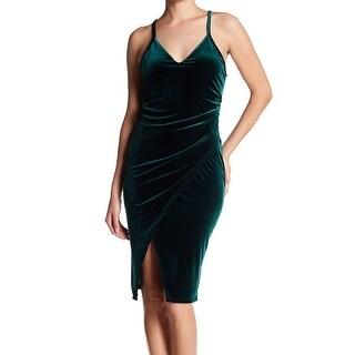 The Vanity Room Womens Large Velvet Sheath Dress
