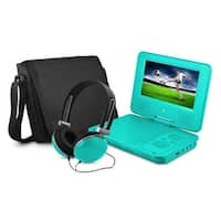 Ematic EPD707TL 7 in. Dvd Player Bundle Teal