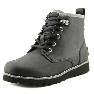 Ugg Australia Maple Youth Round Toe Leather Black Winter Boot