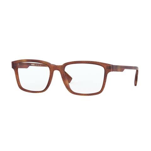 Burberry BE2308 3823 55 Tb Black On Havana Men's Rectangle Eyeglasses - Tb Black On Tortoise