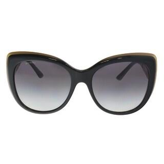 Bulgari BV8198B 54408G Black Butterfly Sunglasses - 57-18-140