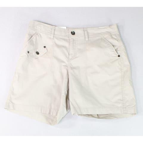 Style & Co Women's Shorts Beige Size 6 Mid Rise 5-Pocket Zip Fly