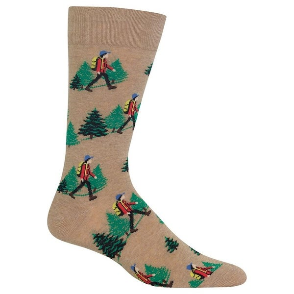 Hot Sox Men's Hiker Socks - Brown